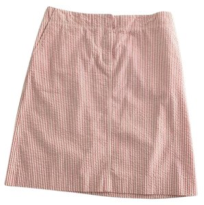 J.Crew Skirt Peach & white