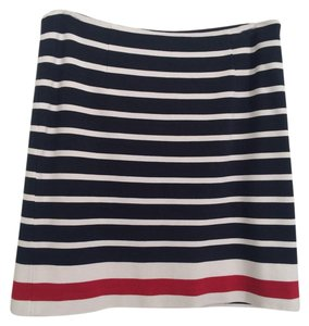 Banana Republic Striped Bold Stripe Nautical Preppy Classic Skirt Navy, red, and white