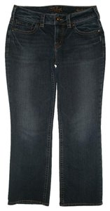 Silver Jeans Co. 5 Pocket Style Zip Fly Capri/Cropped Denim-Dark Rinse