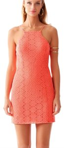 Lilly Pulitzer short dress Breakers Lace Pucker Pink on Tradesy