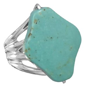 Other Diamond Shape Stabilized Turquoise Ring