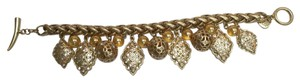 Carolee LUX Carolee LUX Gold-Tone and Crystal Charm Bracelet