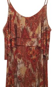 Burnt Orange/Cream/Olive Multi Colored Maxi Dress by Wasabi + Mint