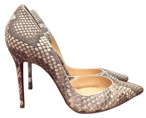 Christian Louboutin Iriza Python Stiletto grey Pumps