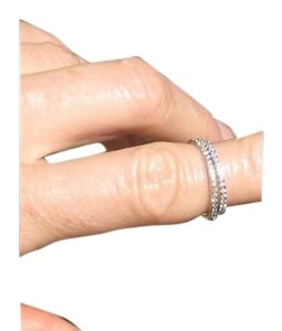 Other 18 kt white gold micro diamond eternity midi or stackable ring NWT 3.5