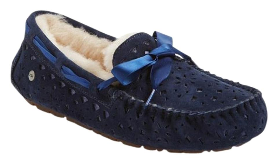 a65abbb0a23 UGG Australia Navy Blue Dakota Flora Perforated Suede Moccassin Loafer  Slipper Flats Size US 8 Regular (M, B) 34% off retail