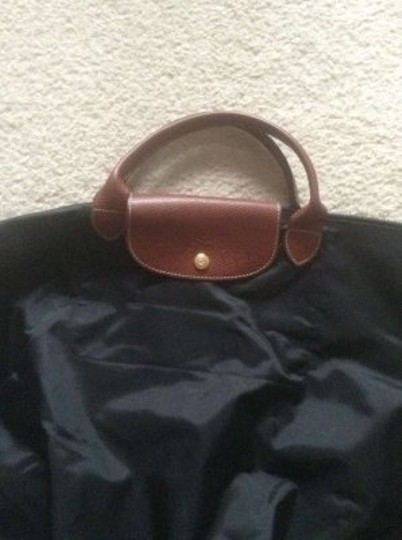 Longchamp Nylon Tote in Black
