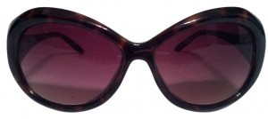 Other Brown tortoise round sunglasses
