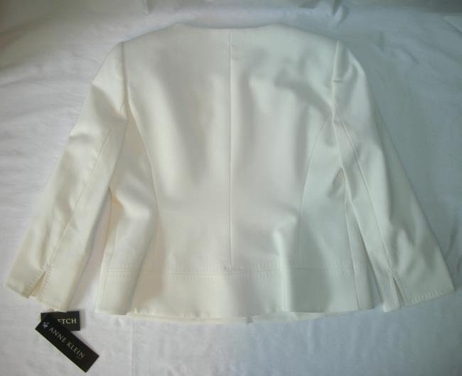 AK Anne Klein Anne Klein Women's Classy Off White Ivory Lined Skirt Suit-Petite 6-6P