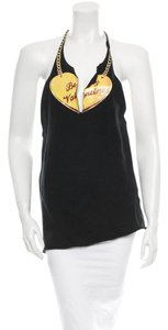 Chloé Summer Spring Couture Halter T-shirt Black/Yellow/Red Halter Top