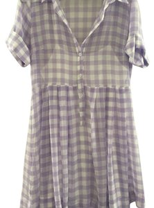 Sister Jane short dress lavender/white on Tradesy