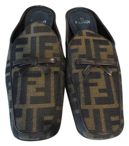 Fendi Brown Monogram Mules