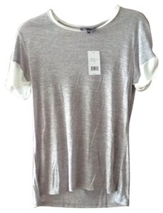 Vince T Shirt Light Grey/ white