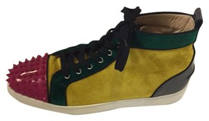 Christian Louboutin Yellow, fushia, green and black Athletic