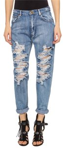 One Teaspoon Distressed Boyfriend Cut Jeans-Distressed