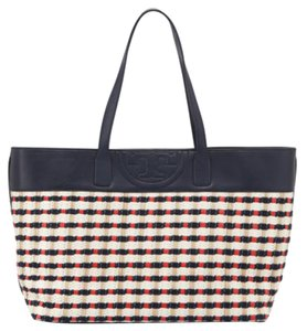 Tory Burch Woven Logo Tote in Multi