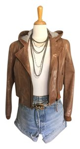 Pleaser Tan Leather Jacket