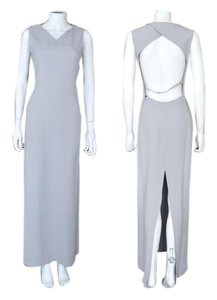 Emporio Armani Slit High Slit Open Back Dress