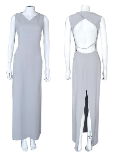 Preload https://item4.tradesy.com/images/emporio-armani-heather-gray-open-back-high-slit-long-formal-dress-size-6-s-1771793-0-0.jpg?width=400&height=650