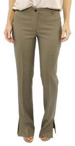 Dolce & Gabbana Houndstooth Wide Leg Trousers Wide Leg Pants Brown
