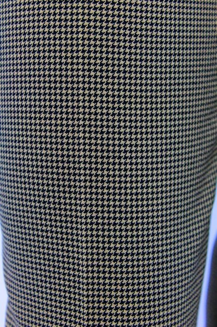 Dolce & Gabbana Houndstooth Trousers Wide Leg Pants Brown