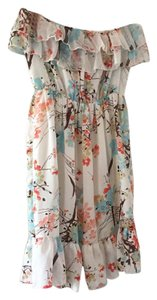 Moon Collection short dress White floral print on Tradesy