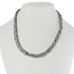 Multi Strand Sterling Silver Braided Necklace - 18
