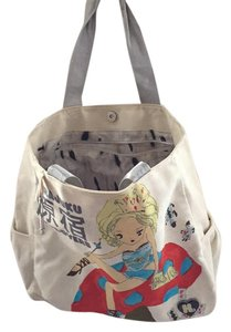 Harajuku Lovers Tote in Cream/multi