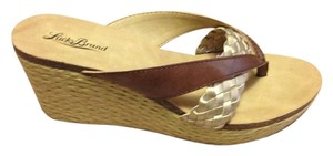 Lucky Brand Brown / Gold Sandals