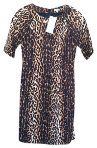Shoshanna Animal Print Leopard Sheath 0 Dress