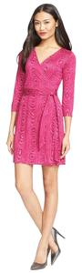 Diane von Furstenberg short dress Pink Julian Dvf Wrap on Tradesy