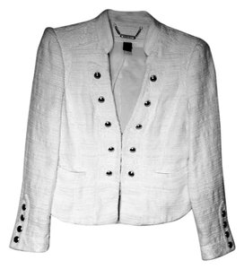 White House | Black Market Military Textured Studded white Blazer