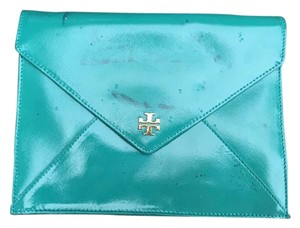 Tory Burch Blue Aqua Clutch