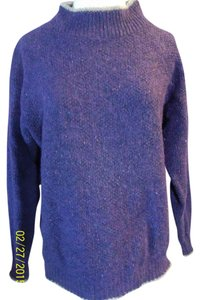 Alps Wool Trimmed Accent Pullover Sweater