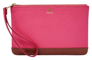 Fossil Wristlet in Pomegranate/Brown