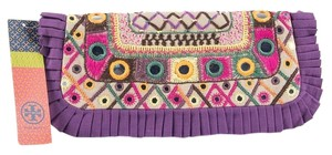 Tory Burch Embellished Multi Color Clutch