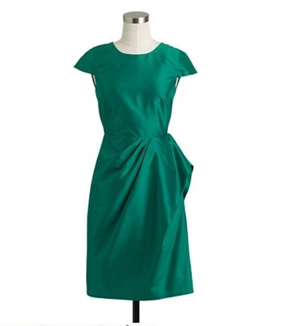 Item - Green Silk Carson Dupioni Formal Bridesmaid/Mob Dress Size 16 (XL, Plus 0x)