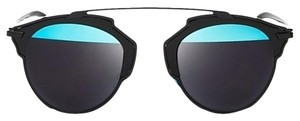 Dior 'So Real' 48mm Mirrored Sunglasses Black/Blue