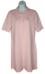 Lacoste short dress Pink Cotton Pique on Tradesy
