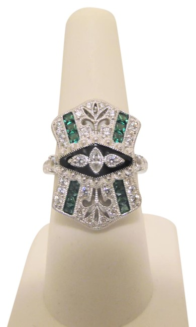 Xavier Simulated Diamond Ring Sterling Silver