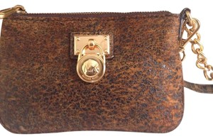 Michael Kors Wristlet in Honey Brown (distressed)