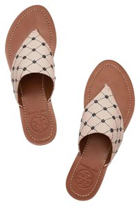 Tory Burch Latte/Bright Navy Flats
