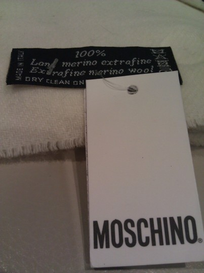 Moschino Moschino New! Wool Olive Oil Pencil Scarf