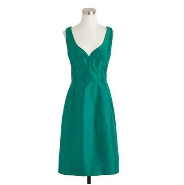 Item - Green Silk Karlie In Dupioni Formal Bridesmaid/Mob Dress Size 12 (L)