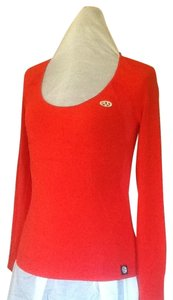 A|X Armani Exchange Longsleeve Scoop Neck Sporty T Shirt Orange red