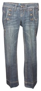 Miss Me Trouser/Wide Leg Jeans-Distressed