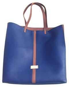 Badgley Mischka Leather Tote in Blue
