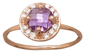 FREE Shipping/ New 14 Karat Rose Gold Plated Purple CZ Ring