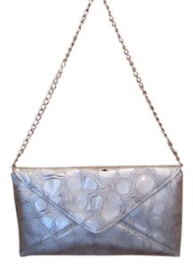 Jessica McClintock Silver Grey Pewter Clutch