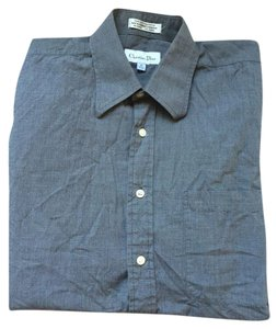 Dior Button Down Shirt Blue